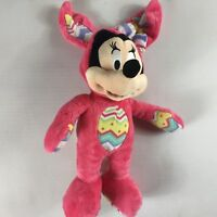 """Disney Store Minnie Mouse Plush 14"""" Stuffed Stamped Beans Easter Egg Costume Toy"""