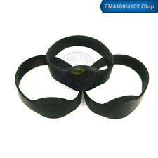 50pcs RFID 125KHz EM4100/4102 ID Black Waterproof Silicone Wristband Watch Tag