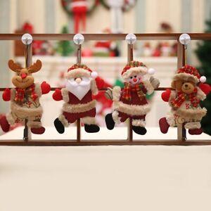 2020 New Year Christmas Santa Claus Snowman Tree Pendant Doll Hang Decorations