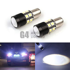 2x CREE 7W 1156 LED Bulbs 5050 SMD Back up Reverse Light Xenon White + Projector
