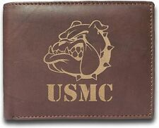 USMC DEVIL DOG BULLDOG US ARMY MARINES MILITARY WALLET PURSE RFID Blocking