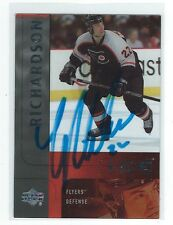 Luke Richardson Signed 2001/02 Upper Deck Ice Update Card #111