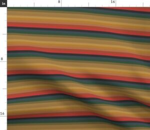 Stripes Doctor Rainbow Muted Shirt Who 13Th Spoonflower Fabric by the Yard