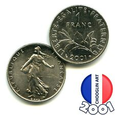 A 2001 French Nickel ONE FRANC 1Fr coin, 20 Years Old!