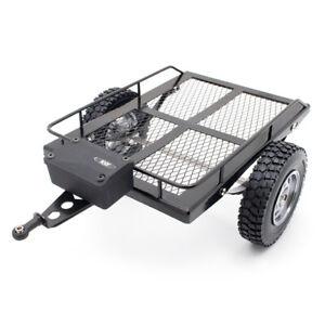 KYX 1/10 RC Crawler HD Single Axle  Scale Trailer Small Trailer Truck Trailer