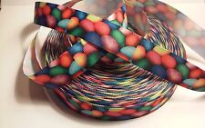 "Easter Eggs inspired 7/8"" Grosgrain Ribbon - 1 Yard - Usa Seller"