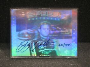 RUSTY WALLACE UDA SIGNED 1995 UPPER DECK SP SPEED MERCHANT 221/1500 HOLO CARD