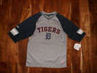 NWT Mens GENUINE MERCHANDISE Detroit Tigers MLB Gray Baseball Shirt Size S Small