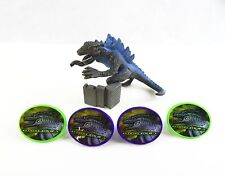 Vintage 1998 Bakery Crafts Godzilla Cake Topper Set With 4 Rings