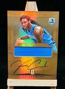 2012-13 Jae Crowder GOLD Standard Jersey RC Rookie NBA Basketball AUTO Suns Mavs