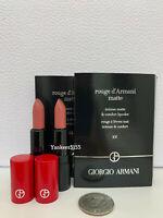 2 x Giorgio Armani Rouge D'Armani Intense Matte Lipcolor 102 1.4g / 0.04oz each