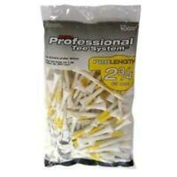 """Pride Sports PTS 2.75"""" Golf Tees - White - 100 Pack"""