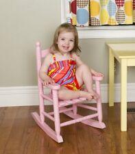 Toddler Chair Porch Rocker Kids Rocking Chair Hardwood Glossy Pink For Girls New