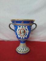 Vaso in porcellana vintage firmato Volpi Deruta