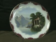 Beautiful Danilo Porcelain Hand Painted Landscape Charger Plate,Signed,Germany