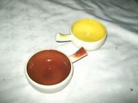 Vintage 50's Diana Australian Studio Pottery S16 Harlequin Centre Ramekin Bowls