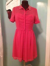 NWT LC By Lauren Conrad Coral Beaded Sweetheart Chiffon Dress 10 (6/8)