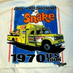 NHRA DON THE SNAKE PRUDHOMME Snake & Mongoose SNAKE HAULER XXL T Shirt 2XL