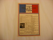 Original Victor Phonograph Record Catalog - French July, 1917