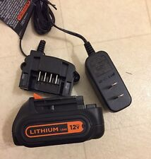 Black&Decker LCS1620 Lithium-Ion 16V20V Battery Charger and B&D LBXR1512 Battery