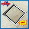 Stainless Steel Smart Tile Insert Square Floor Waste Grate Drain Bathroom Shower
