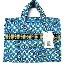 Cosmetic Bag Taylor Lane Hanging Travel Blue Quilted Cotton