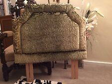 "#Single headboard shaped Designers guild fabric Rochester Moss 36""W x29"" high"