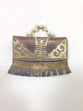 Flint Case Leather Etched Brass Trim Mecha Tibetan Flint Case