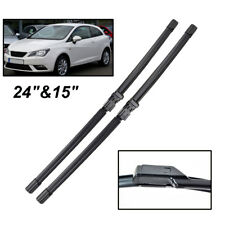 "24"" 15"" Front Windscreen Windshield Wiper Blades For SEAT Ibiza 6J 2008-2017 10"