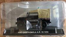 """DIE CAST """" FIAT CAMPAGNOLA A.R. 59 1959 CARABINIERI """" SKALA 1/43 CARABINIERI"""