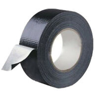 1 x Waterproof Black Highly adhesive Heavy Duty Gaffer Cloth Duct Tape 48 x 10mm