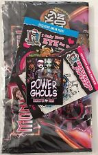 MONSTER HIGH LOT #A (Tote Bag, Books) SDCC Mattel EXCLUSIVE SWAG