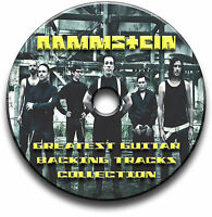 RAMMSTEIN STYLE HEAVY METAL ROCK GUITAR MP3 BACKING TRACKS CD ANTHOLOGY LIBRARY