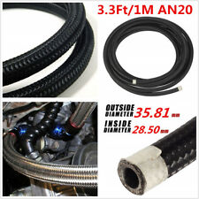 3.3Ft AN20 Car Engine Fuel Oil Line Gas Radiator Nylon Steel Braided Hose Pipe