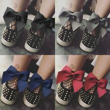 Women Summer Fishnet Ruffle Bow knot Ankle High Lace Mesh Anklet Socks Wear New