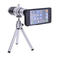 12X Magnifier Aluminum Tripod Camera Telephoto Lens For iPhone 5 5G