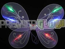 Flashing Light Up Party Wings Tinkerbell Pixie Fairy Dressup Costume(12 pieces)