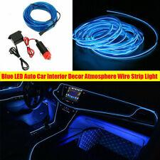 Blue LED Auto Car Interior Decor Atmosphere Wire Strip Light Lamp Accessories