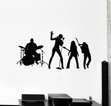 Vinyl Wall Decal Music Band Rock Pop Singer Drummer Guitar Stickers (g1810)
