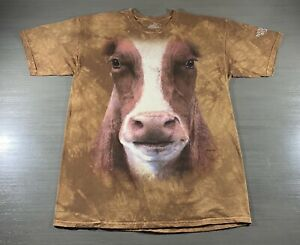 The Mountain Shirt Adult Extra Large XL Brown Cow National Western Stock Show