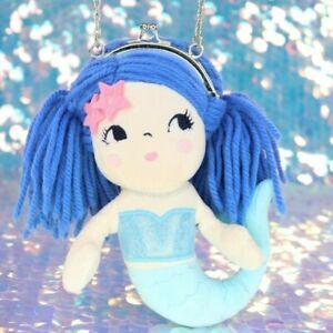 Mermaid Doll Coin Purse Pretend Play Dress Up Blue Yarn Hair 2016 Gymboree BB598