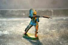 COMPOSITION UNBRANDED Wild West WW Indian Chief Standing Shooting Blue Tunic
