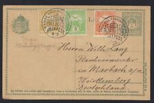 HUNGARY TO GERMANY 1916 UPRATED 5H POSTAL CARD WITH BUDAPEST 1916.DEC.30 SPECIAL