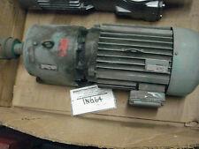 Eurodrive SEW inline gearmotor R80D160L4, 4.22:1 ratio, 20hp, 230/460, 420rpm,B3