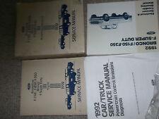 1992 Ford F-150 F-250 F250 350 BRONCO TRUCK Service Shop Repair Manual Set OEM x