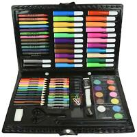 90pc Folding Art Set Case Colouring Pencils Painting Drawing Children Adults UK