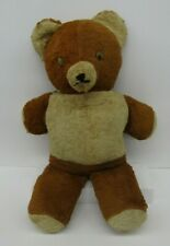 Vintage Antique GUND 1950s Bear brown - cream color mohair 20 in googly eyes
