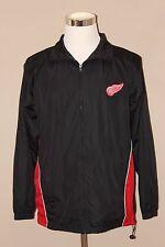 NHL Detroit Red Wings ice hockey black/red zip-up windbreaker track jacket, sz S