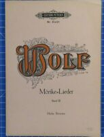 Edition Peters Nr.3142a Wolf Mörike Lieder Band III Hohe Stimme B18882