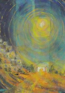 Postkarte/ Postcard: Bernadette Höcker - Licht der Welt / Sonne